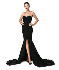 afdbae5b9 Vestidos De Noche Largo Strapless Bodas Fiestas Maxi Dress