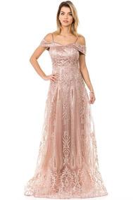 De Noche Regular Talla Rose Gold Vestidos gvY6b7yf