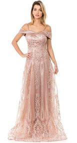 Vestidos De Noche Talla Regular Rose Gold