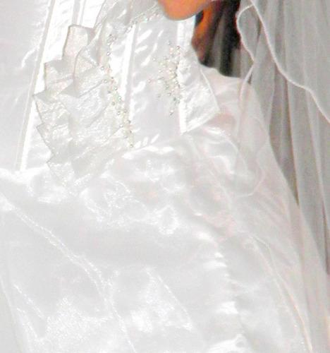 vestidos de novia como nuevo con cola y  minifalda incluidas