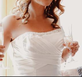 6834d85527 Vestidos De Novia Matrimonio Largo Estrapless Pliegue Cola