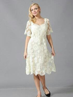 Vestidos novia tejidos crochet