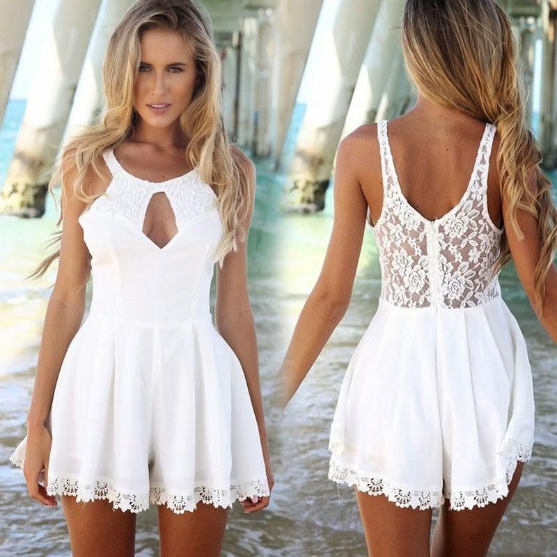 Vestido de festa de formatura branco