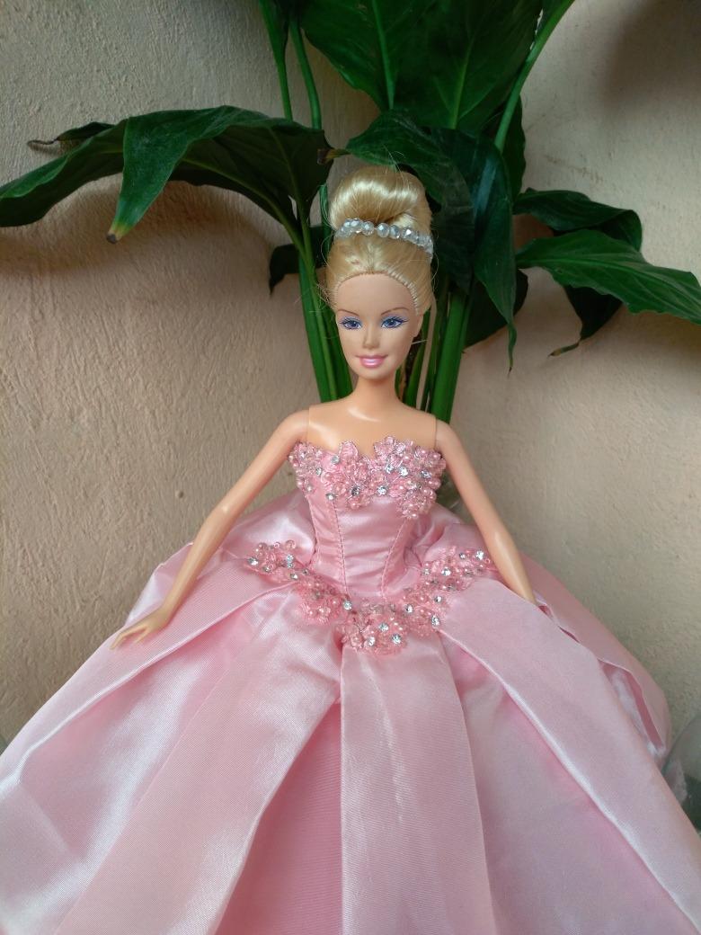 Vestidos De Xv Años Y Novia Para Muñecas Barbie - $ 390.00 en ...