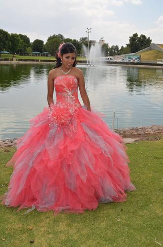 vestidos de xv coral