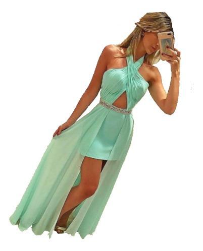 vestidos elegantes con encaje largos  fiesta noche