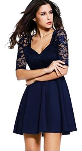 vestidos elegantes en encaje para damas y adolescentes