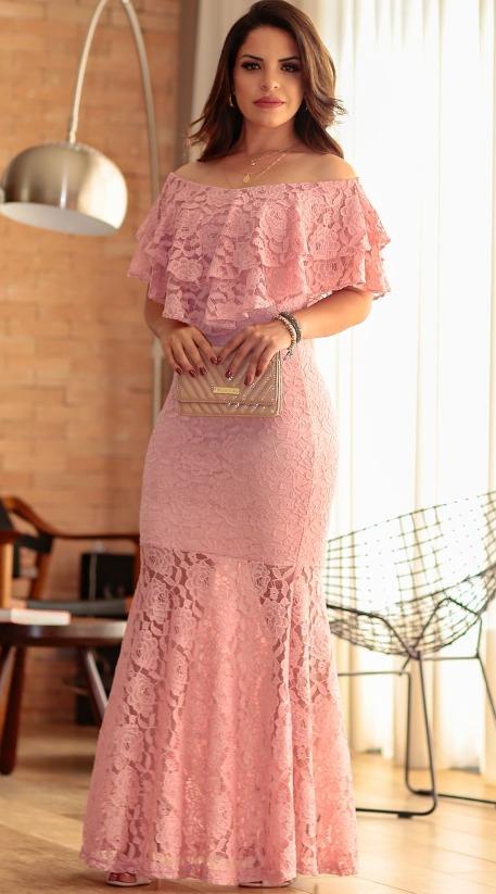 Vestidos Elegantes Ilusión Desnuda Encaje Gala Boda