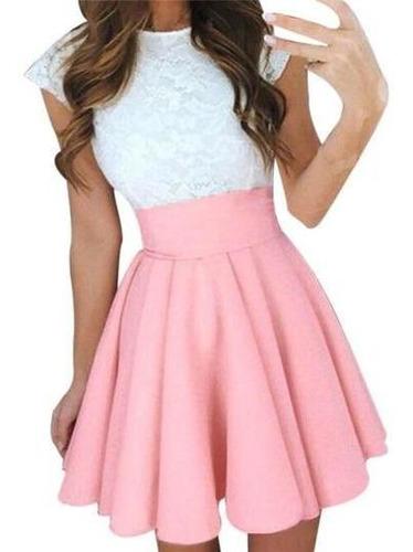 vestidos en encaje corte princesa para graduaciónes