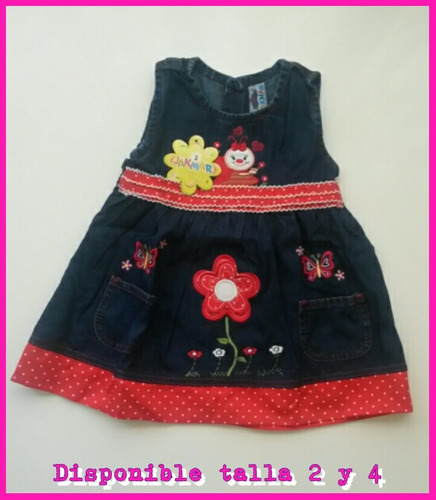 vestidos en jeans para niñas. hermosos diseños. talla 1-2-3