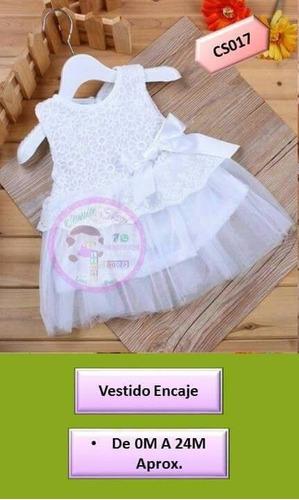 vestidos encaje y tulle para bebé mujer 0-2años