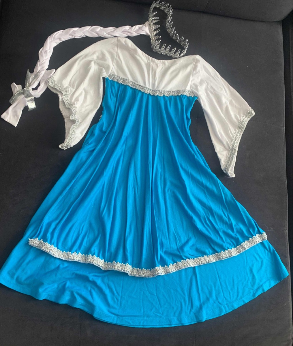 70cadd1b2 vestidos fantasia camisola elsa e anna frozen infantil. Carregando zoom.
