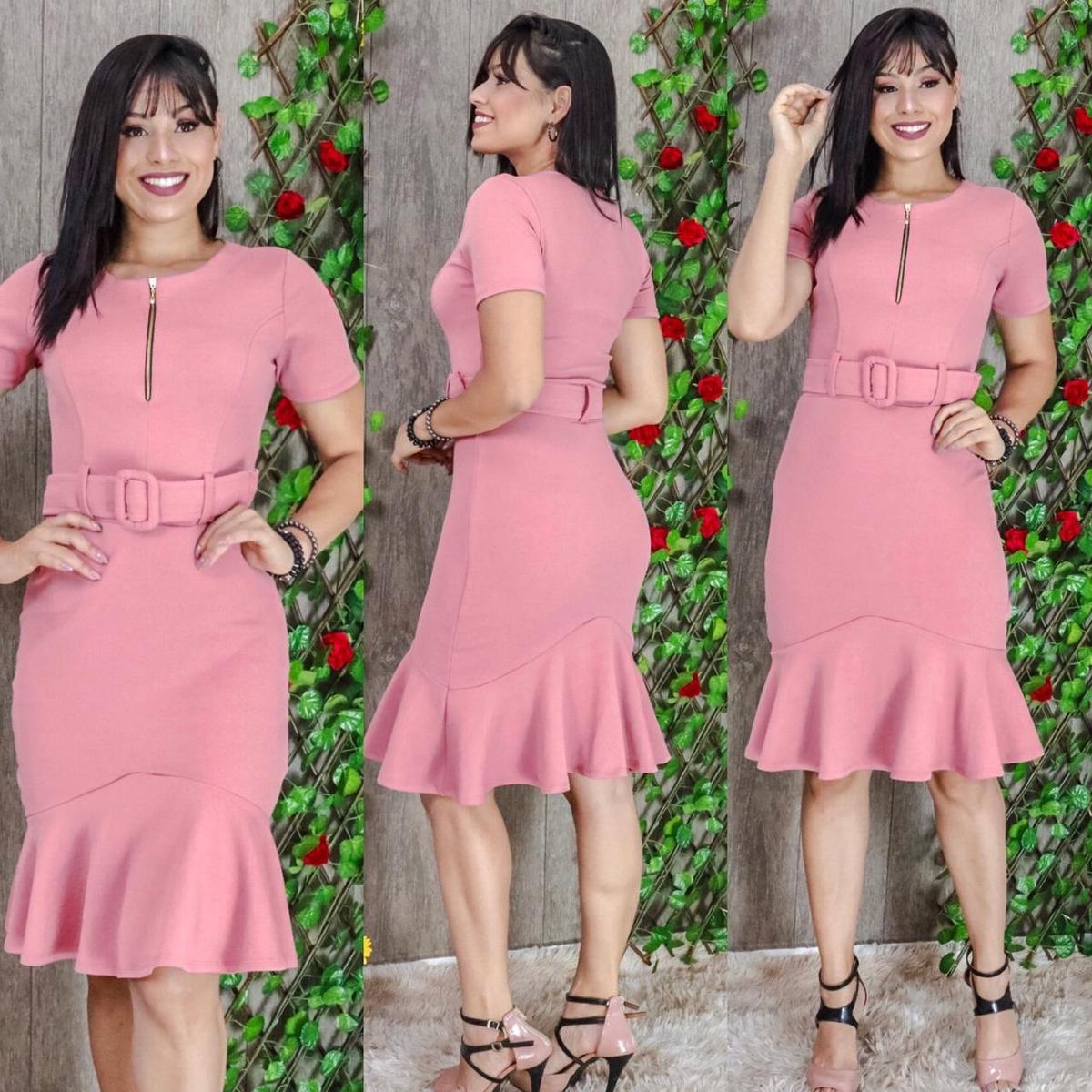 64b413db6 vestidos feminino moda evangélica congresso cinto incluso. Carregando zoom.