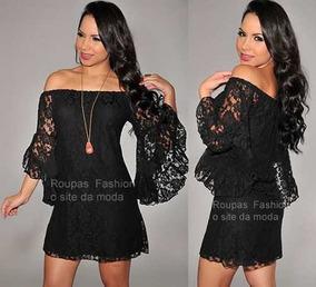 6fe6d6aab Vestido Ciganinha Renda Panicat - Vestidos Femininas Branco no Mercado  Livre Brasil