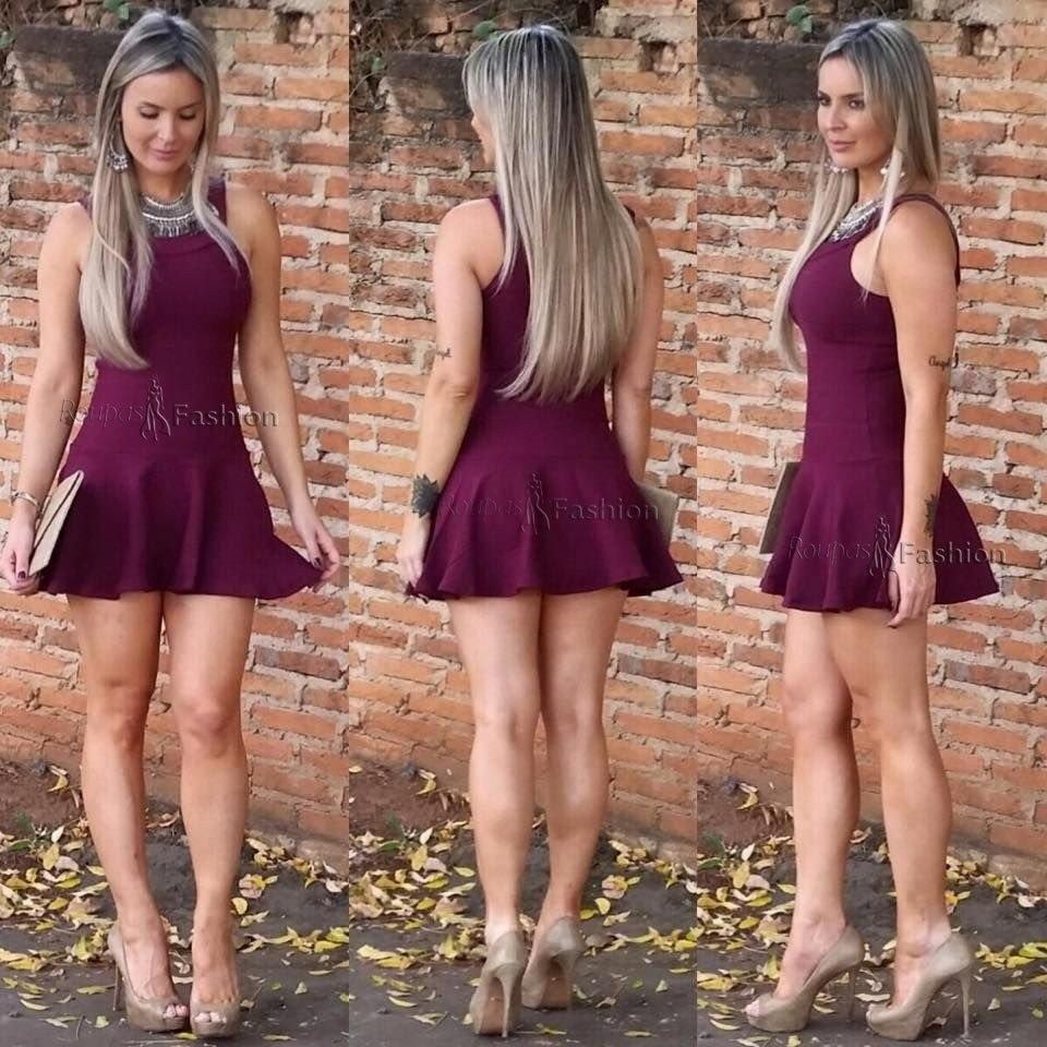 Vestido de sereia curto