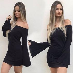 cd9668224 Vestido Manga Longa Balada - Vestidos Curtos Femininas no Mercado Livre  Brasil
