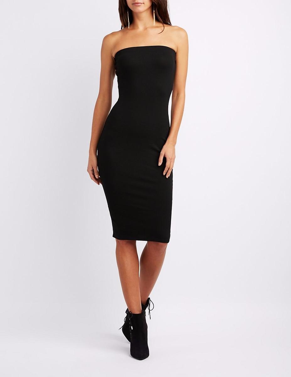 5ad7fd63f7 vestidos femininos secretaria moda tubinho midi ombro nu. Carregando zoom.