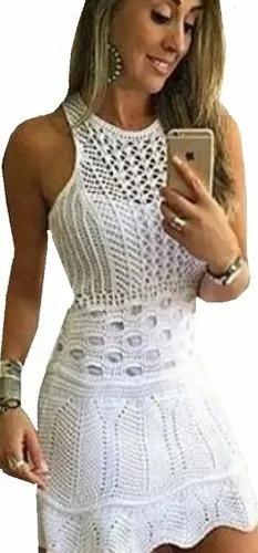 vestidos femininos tricot crochê nuvem modelo 2017 promoçaõ