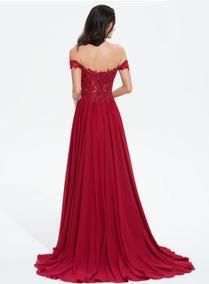 Vestido Guinda Vestidos De Noche Largos Vestidos De Mujer