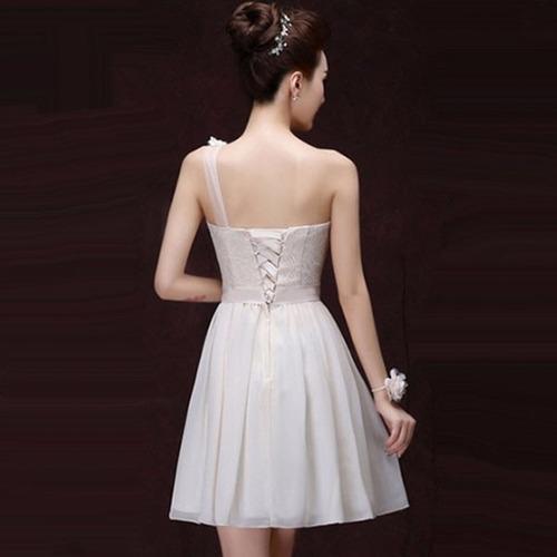 vestidos fiesta corto escote un hombro elegante moderno sexy