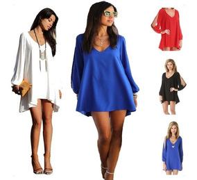 2e4cefd973d9 Vestido Blanco Largo Verano - Vestidos de Mujer Corto Azul en ...