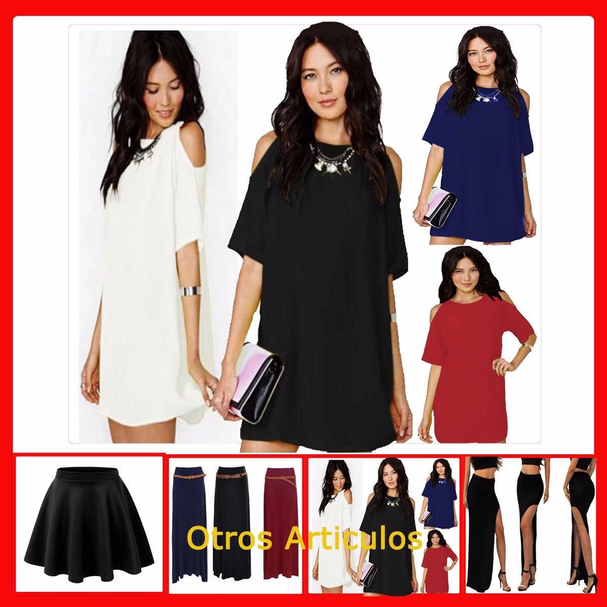 02a53178c Vestidos Fiesta Corto Seda Fria Vestido Mujer Informal Ar601 -   597 ...