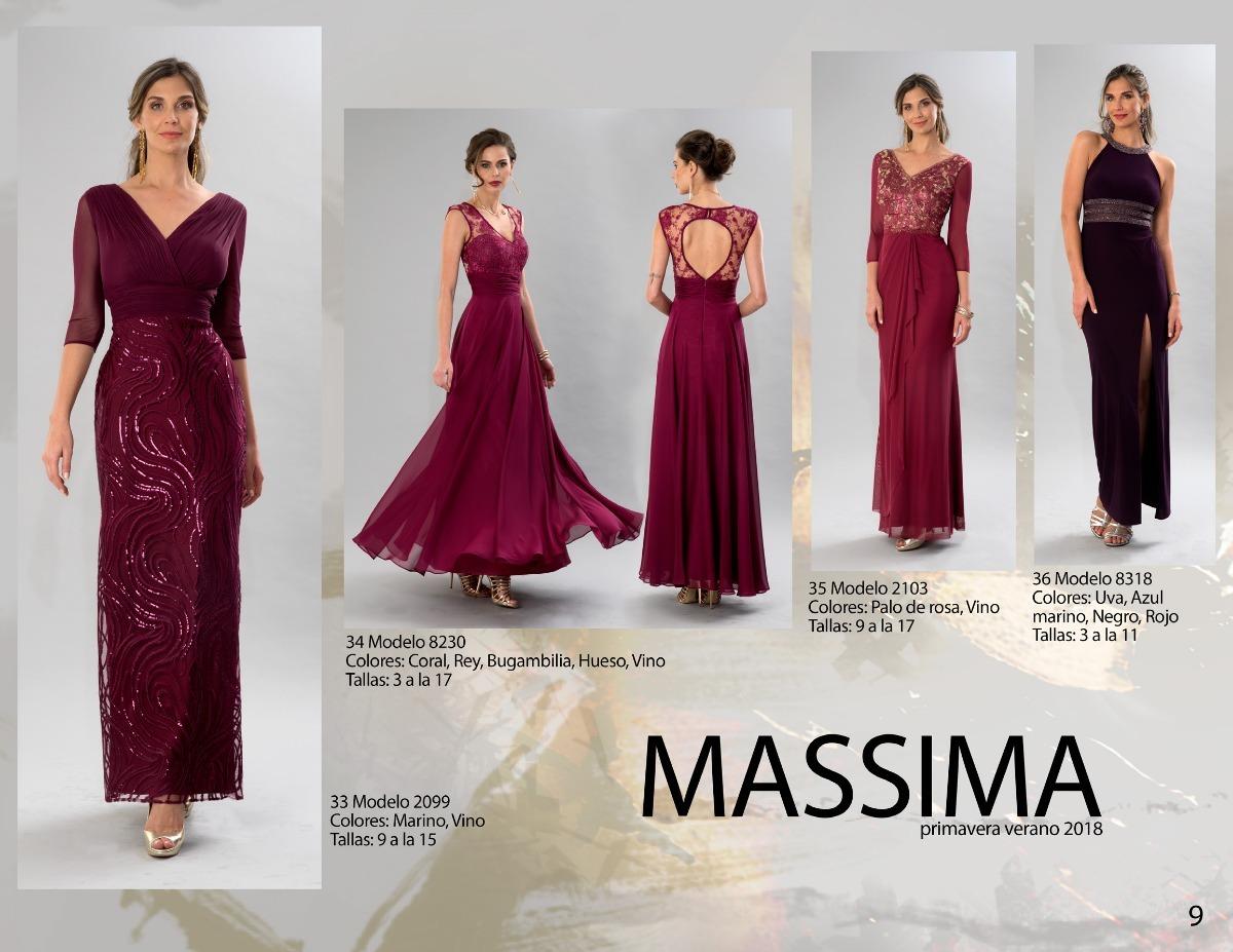 Modelos de vestidos de noche en color vino