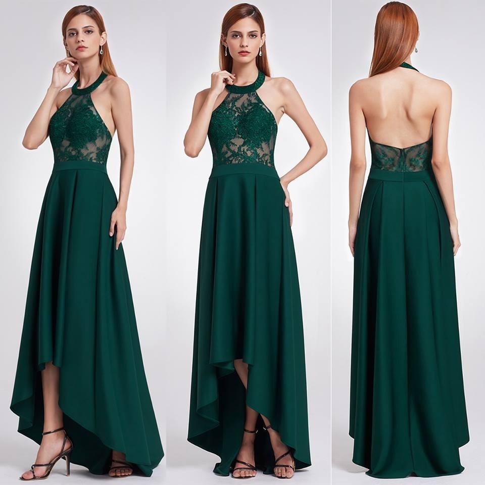 Vestidos coctel verde