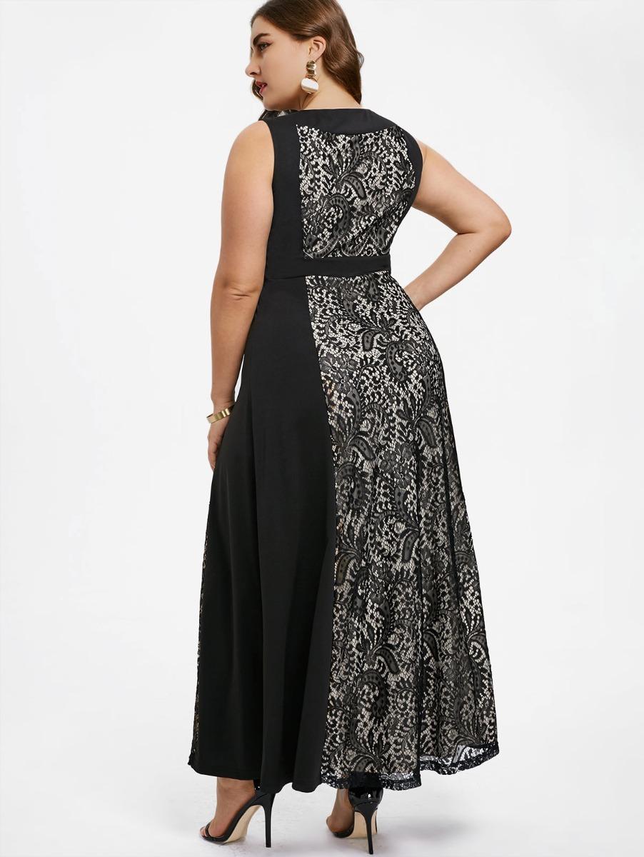 439026365af0a Vestidos Fiesta Negro Tallas Grandes Vg 30 -   46.900 en Mercado Libre