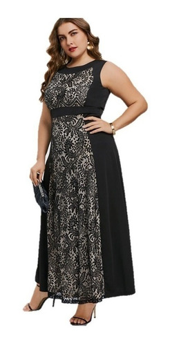 vestidos fiesta negro tallas grandes vg 30