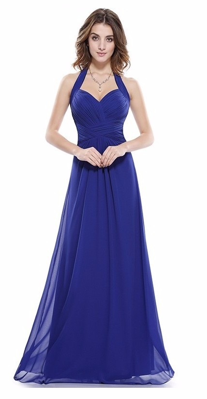 2fcf72f9c3 vestidos fiesta talla 8 largo azulino gasa modelo ep 33. Cargando zoom.