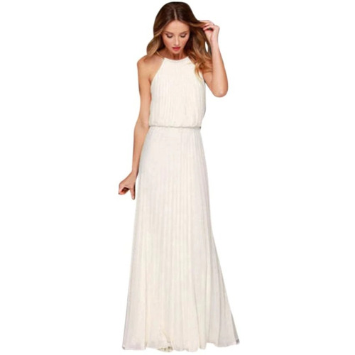 vestidos gasa plisados largos turquesa, blanco, negro, bordó