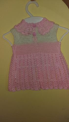 vestidos hechos a crochet para bebe de 0_24 meses
