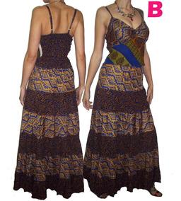 4fea64132 Vestidos Hindú Largo Falda Franjas India Hippie Chic Boho