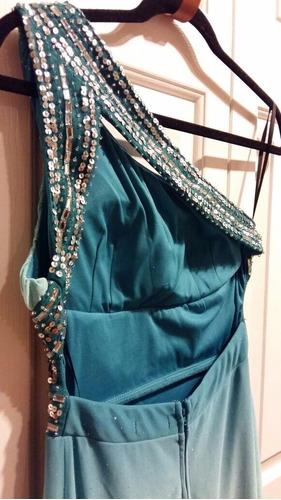 vestidos import de licra, bordado y con brillos-tallas s y m