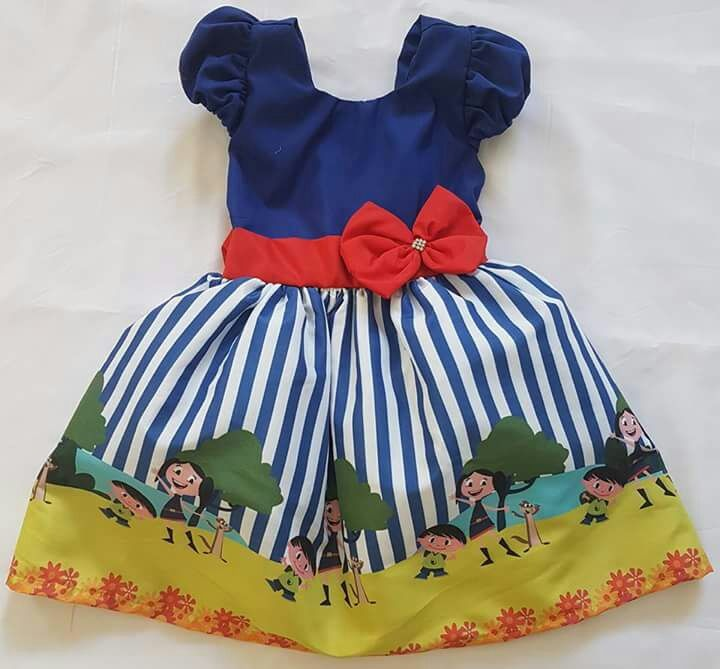 5328a0a348 Vestidos Infantil Personalizado De 1 Ao 4 - R  130