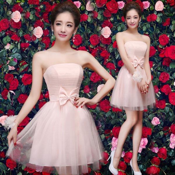 b9d5b812df Vestidos Juveniles Corto Lindo Moño Moderna Espalda Elegante - U S ...