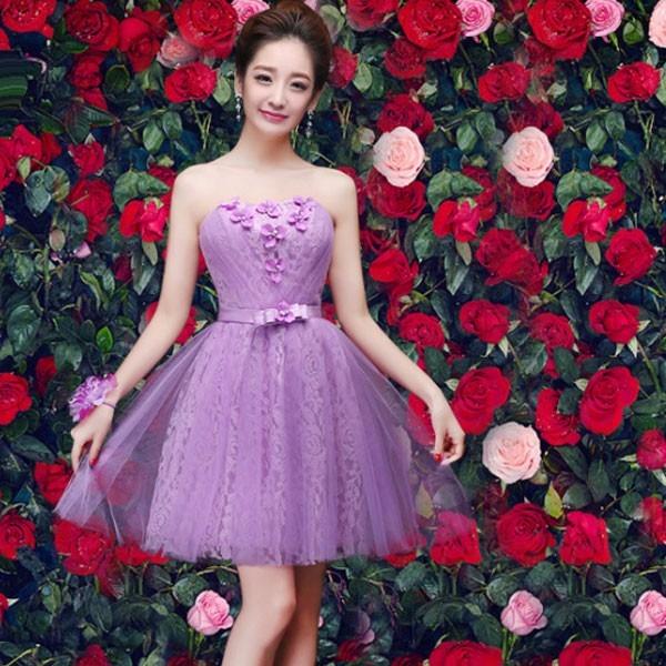87033df2a Vestidos Juveniles Corto Strapless Flores Fresco Ligero Moda - U$S ...
