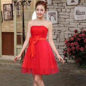 color atractivo precio loco seleccione para genuino Moños De Regalo Rojos - Vestidos de Mujer Graduación Corto L ...