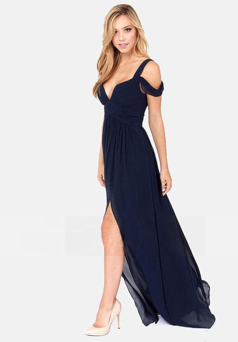Económicos Bonitos Elegantes Casual Largos Vestidos S3jqcAL5R4