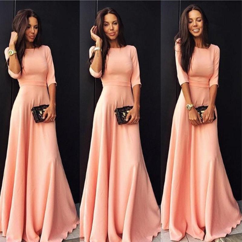 fc952413b9716 vestidos largos bonitos económicos elegantes casual barato. Cargando zoom.