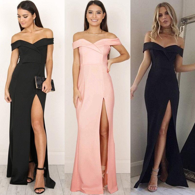 Vestidos Largos Bonitos Econu00f3micos Elegantes Casual Sexy - $ 120.000 en Mercado Libre