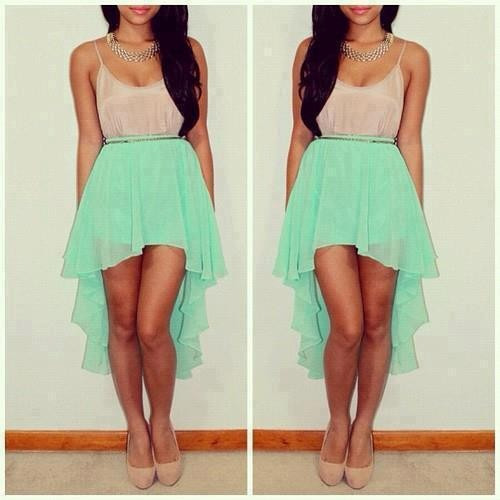 Modelos de vestidos de chiffon cortos