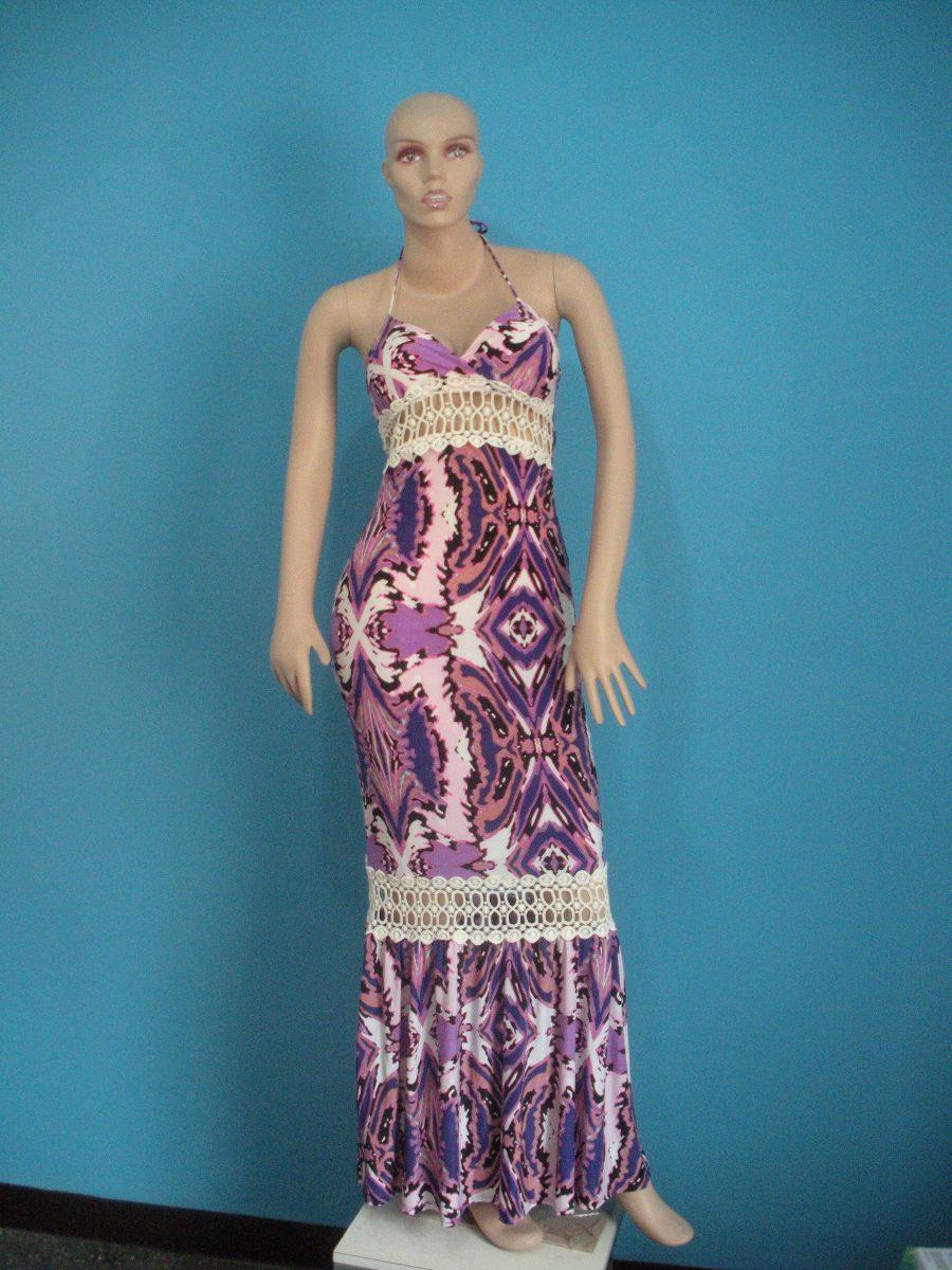 fd8b5ac1e vestidos largos casuales estampado importados. Cargando zoom.