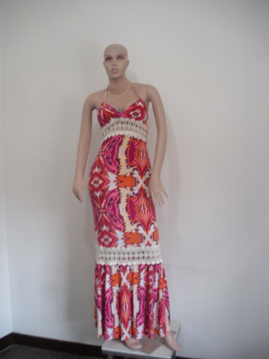 c638aa6f4 vestidos largos casuales estampado importados. Cargando zoom.
