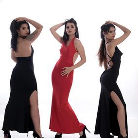 cee09971f5 Vestido Corte Sirena Con Tajo - Vestidos de Mujer en Mercado Libre ...