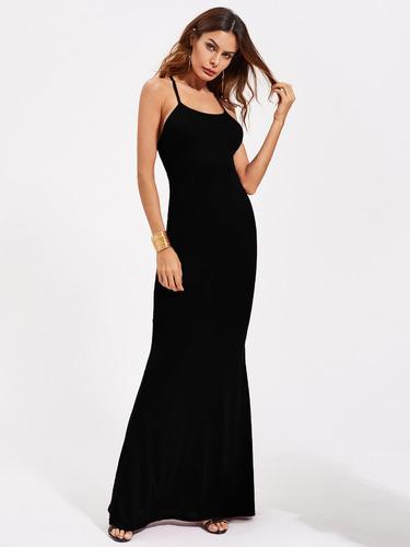 vestidos largos de lycra elegante sexy festa noche coctel 35
