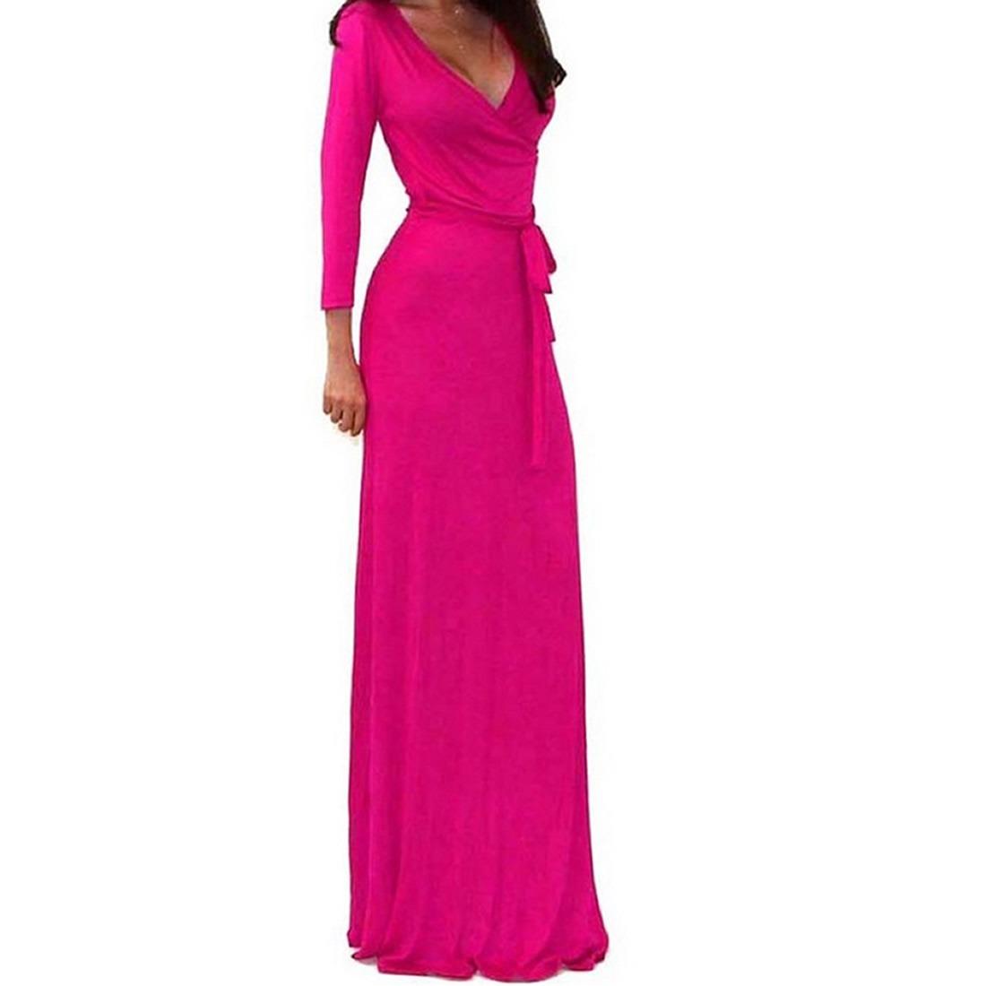 Vestidos Largos De Noche Damas De Honor Boda Moda 2018 Fiest ...