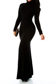 9e711f960 Sensual Elegante Vestido Noche Negro Pedreria Ch - Vestidos de Mujer ...