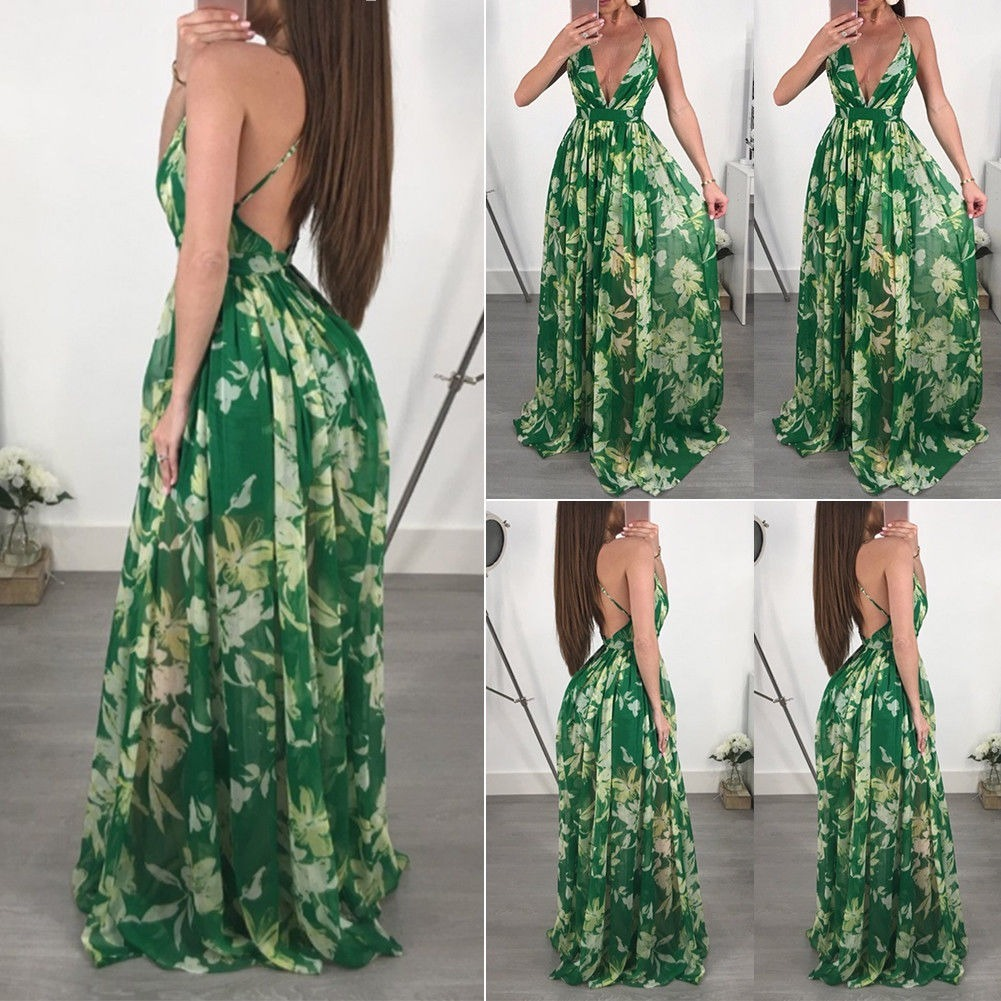 0f2fc0a2bc69 Vestidos Largos Mujer Elegantes Fiesta Bonito Sexy Barato